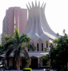 The modern Cathedral that stands in Zamalek