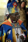 Archbishop of York in his colourful robes at the 75th anniversary celebrations