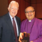 Former president of the united states, Jimmy Carter presenting Bishop Mouneer with his book