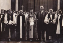 Dignitaries present at the opening of the Cathedral in 1938