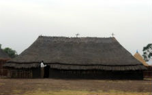 Ethiopian church made from wood and thatched roof