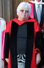 Clare Amos when presented with her degree by the Archbishop of Canterbury