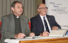 Archdeacon of Cyprus John Holdsworth and Queens College Provost Dr Rick Singleton sign the Exploring Faith course Memorandum of Understanding
