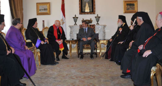 President of Egypt, meeting with the heads of the Christian religion in Egypt