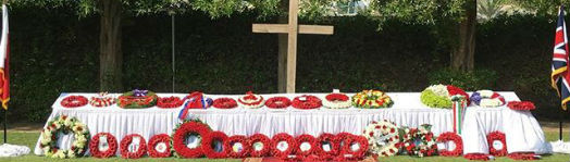 The Poppy Wreaths at the British Embassy in Bahrain
