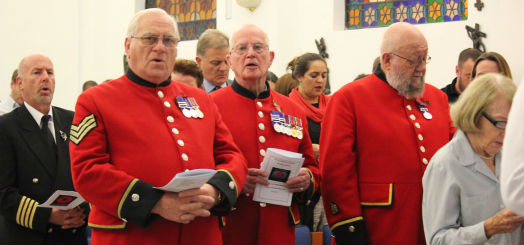 Visiting Chelsea pensioners at the St Christopher's Remembrance Service