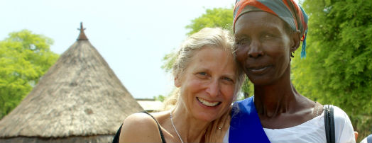 Wendy with one of the members of Gambella's Mother's Union