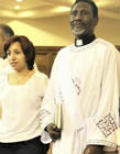Revd Clement with his wife Nermeen