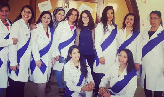 Graduation at Menouf Nursing School