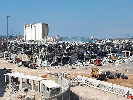 Centre of the Explosion in Beirut in August 202