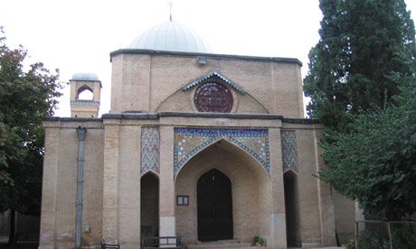The front view of the Anglican church in Shiraz