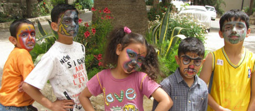 Children at the Holy Land institute for the Deaf