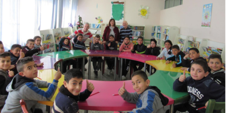 Pupils from Jeel Al Amal, a boys' home/school in Bethany
