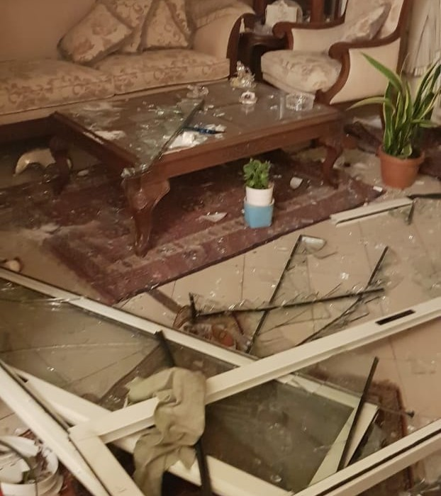 Inside damaged house following Explosion